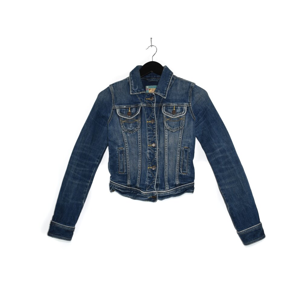 Abercrombie & Fitch - Cropped Denim Jacket