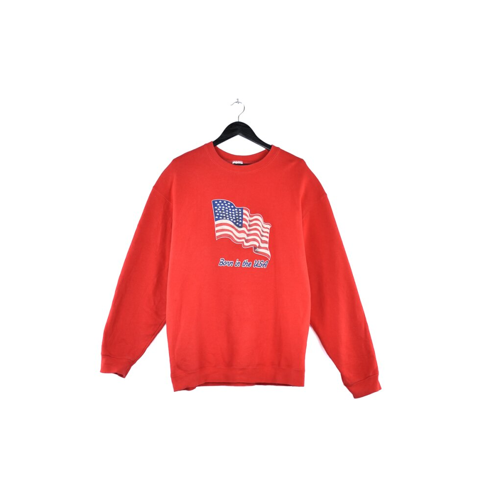 Fruit of the loom - Vintage Born in the USA Flag Spellout...