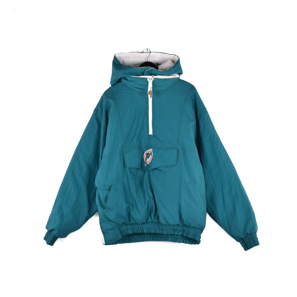 Pro Player - Reversible Miami Dolphins Half Zip Jacket (XXL)