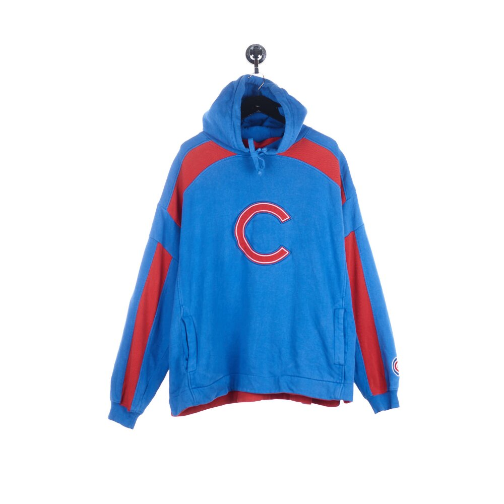 Majestic - Chicago Cubs Embroidered Big Logo Hoodie (XL)