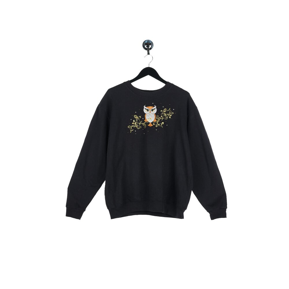 Unknown - Embroidered Owl Sweatshirt (M)